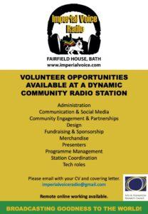Volunteer Opportunities Ad